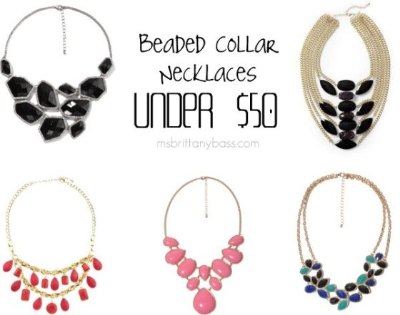 Beaded Collar Necklaces Under $50
